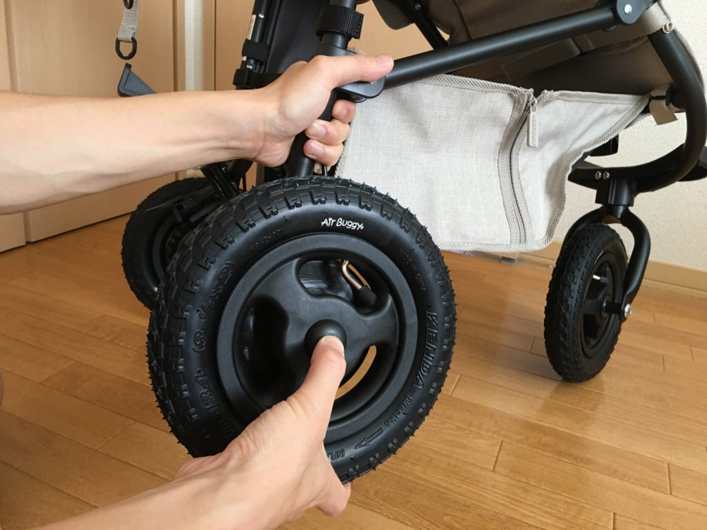 タイヤのはめ込み