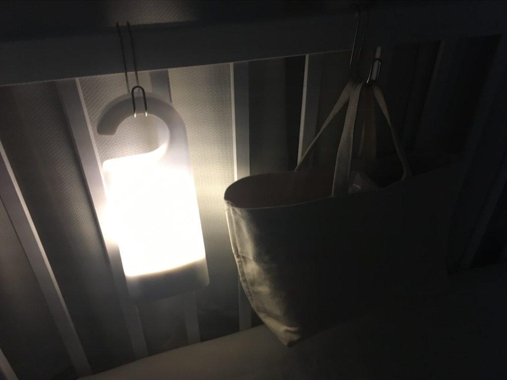 無印 LED持ち運びできるあかり 夜間使用