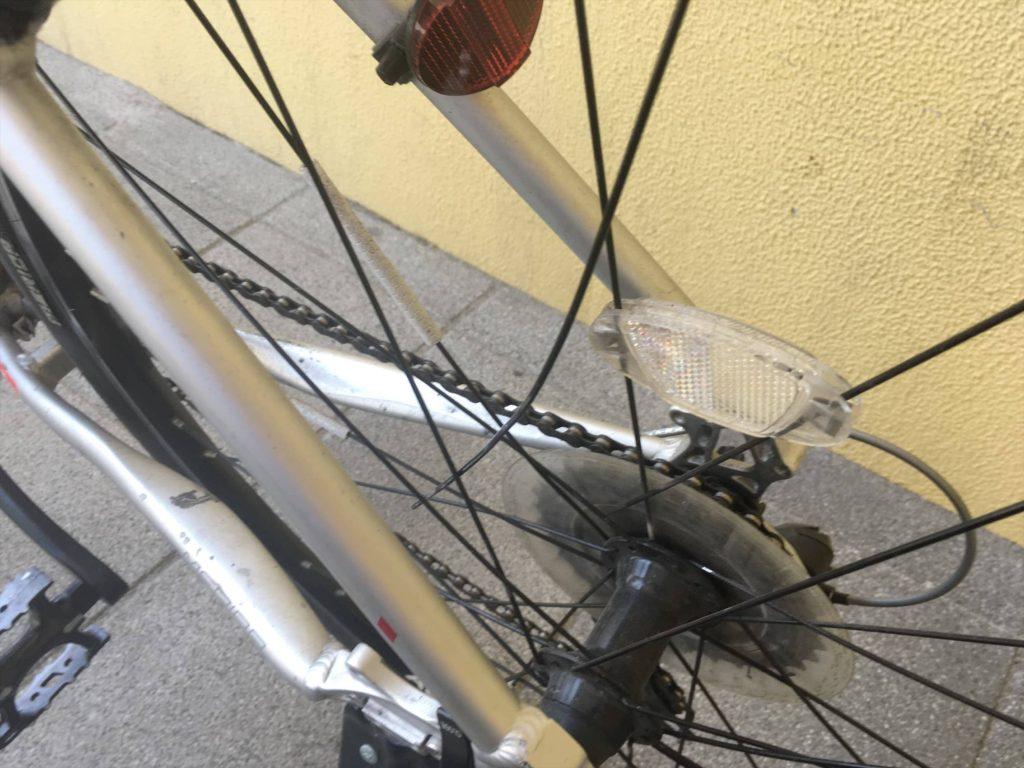 自転車 クロスバイク スポーク折れた